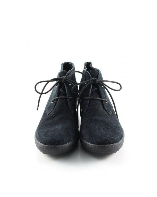 Clarks Black Keil-Stiefeletten