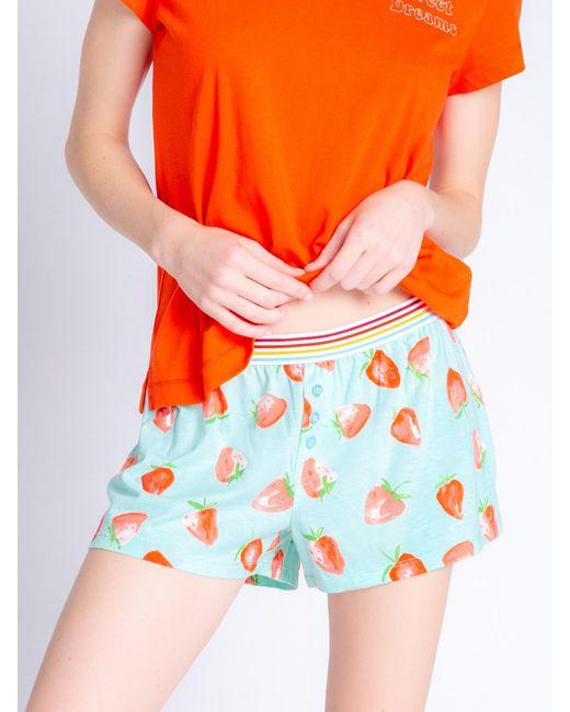 Pj Salvage Orange Pyjamashorts ' Funny Style '