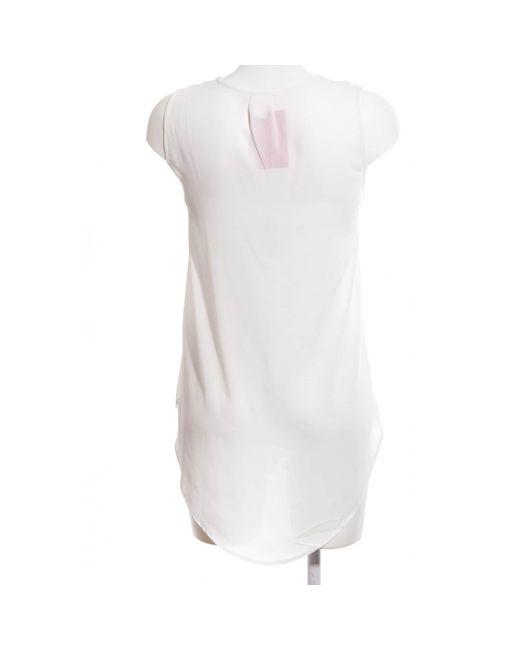 H&M White Transparenz-Bluse