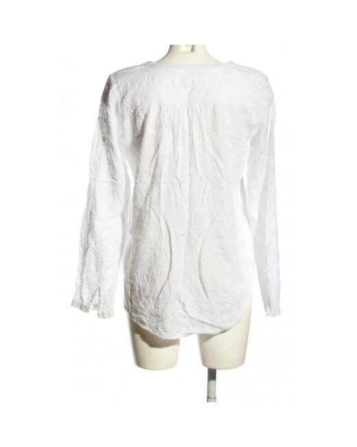 H&M White Schlupf-Bluse