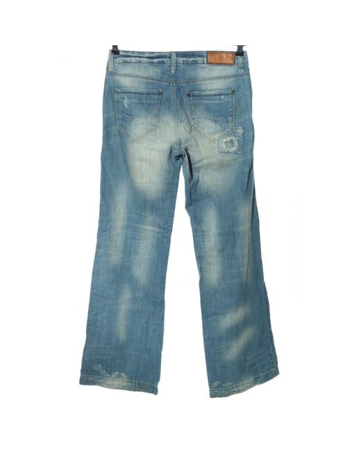 ONLY Blue Straight-Leg Jeans