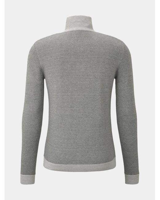 Tom Tailor Strickjacke in Gray für Herren