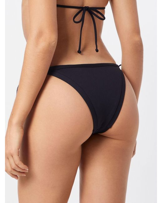 Seafolly Black Bikinihose 'Brazilian Tie Side'