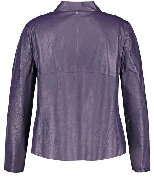 Samoon Purple Lederjacke