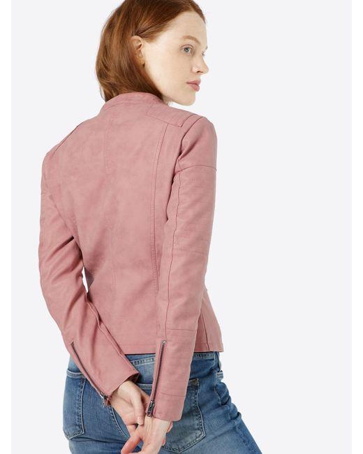 ONLY Pink Kunstlederjacke 'ONLAva'