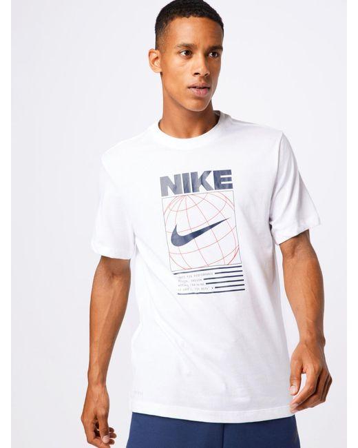 Nike Sport-Shirt in White für Herren