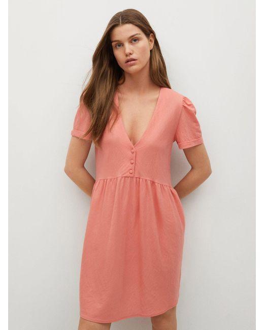 Mango Kleid Thalia8 In Pink Lyst