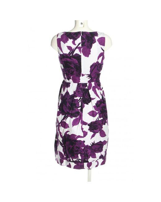 Peserico Purple A-Linien Kleid