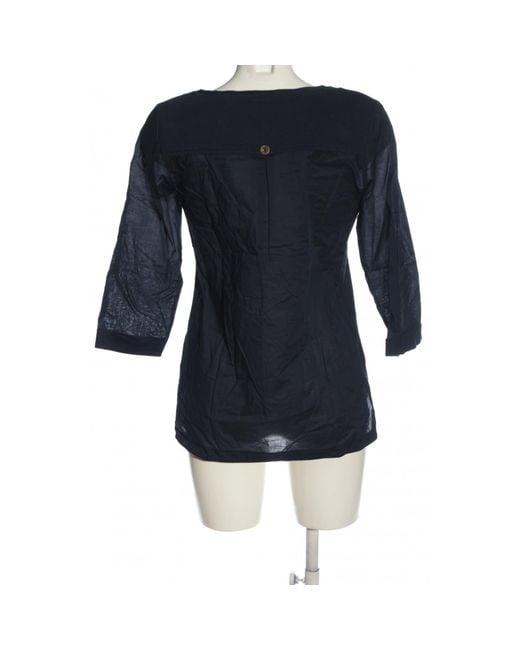 Edc By Esprit Blue Schlupf-Bluse