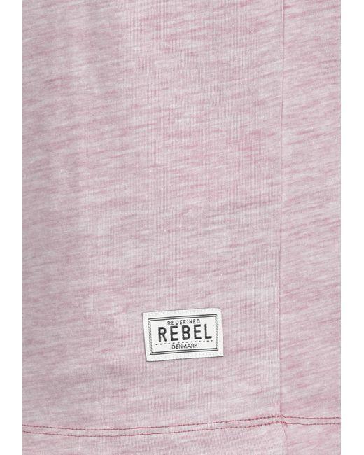 Redefined Rebel V-Shirt in Red für Herren