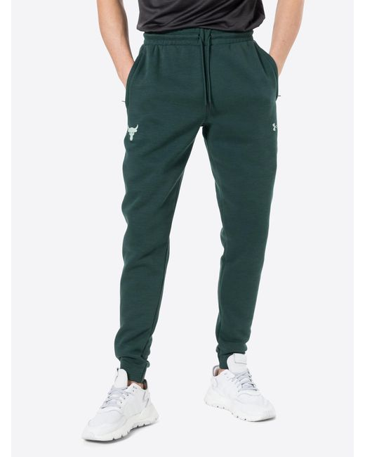 Under Armour Sport-Hose 'Project Rock' in Green für Herren
