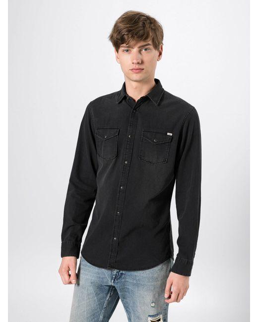 Jack & Jones Hemd 'JJESHERIDAN' in Black für Herren