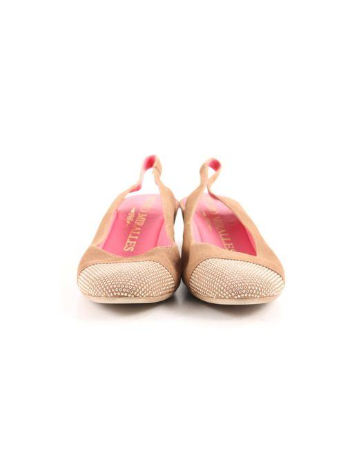 Pedro Miralles Pink Riemchen Ballerinas