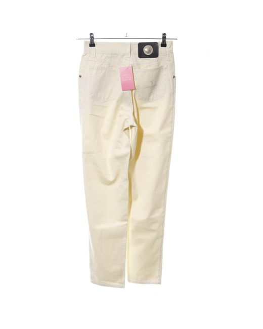 Trussardi Natural High-Waist Hose