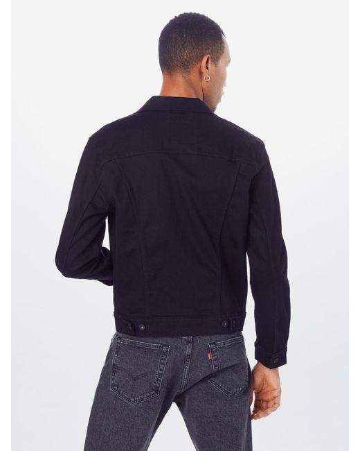 Levi's Jeansjacke 'THE TRUCKER' in Black für Herren