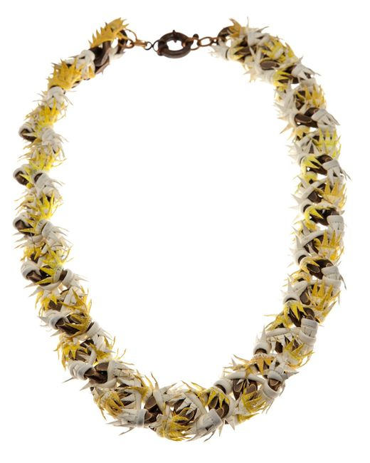 Annelise Michelson   Metallic Thorny Leather Necklace   Lyst
