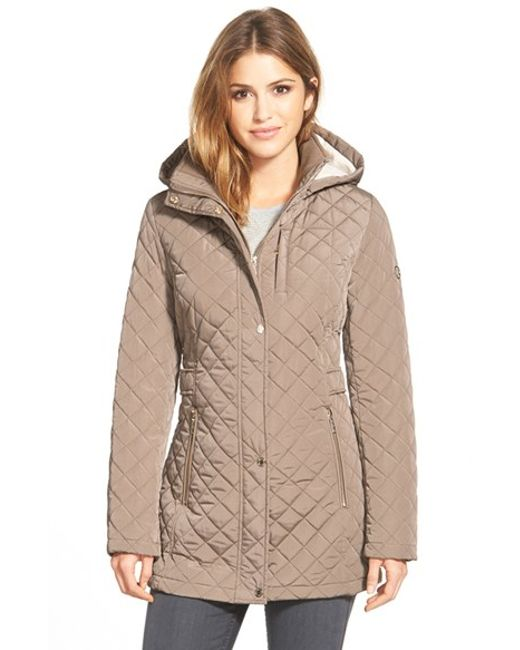 Calvin Klein   Black Hooded Quilted Jacket   Lyst