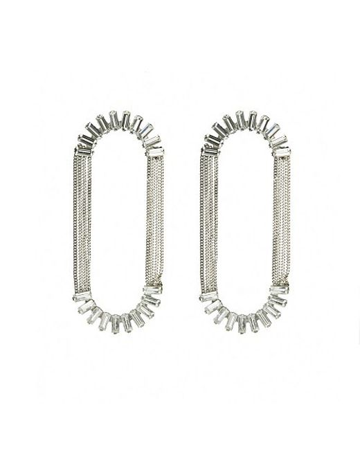 Nicole Romano   White Alvatore Earrings   Lyst