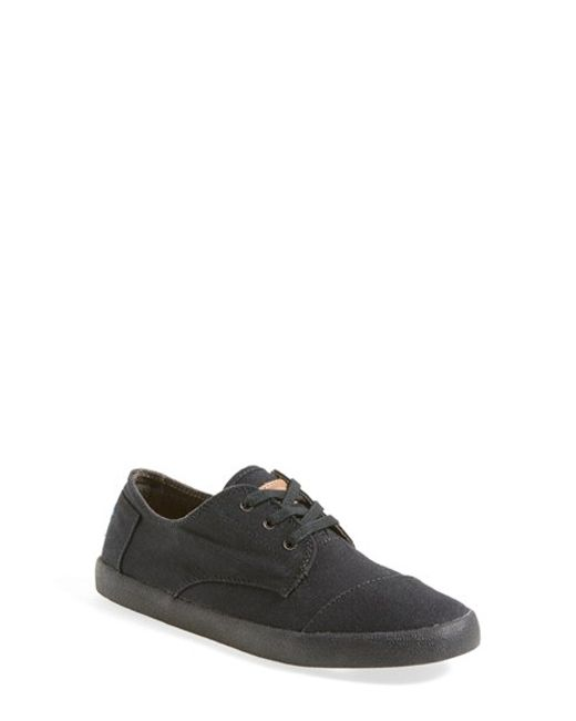 TOMS | Black 'Paseo Classic' Canvas Sneaker (Women) | Lyst