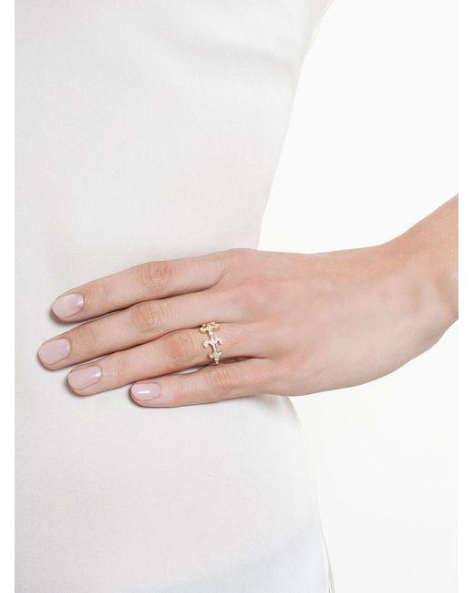 Sabine G   Metallic 'oona' Diamond Ring   Lyst