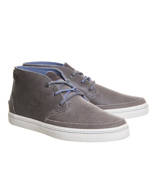 Lacoste Clavel Chukka Boots In Gray For Men Grey Lyst
