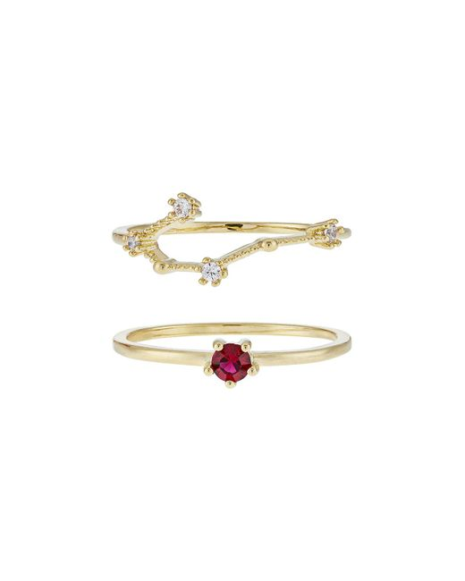 Accessorize - Metallic July Birthstone Stacking Ring Set - Lyst