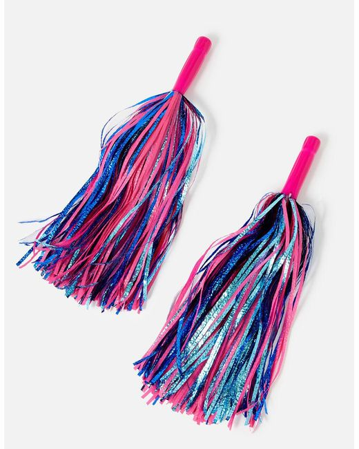 Accessorize Girls Pink And Blue Cheerleader Pom-poms, Size: 37x14cm