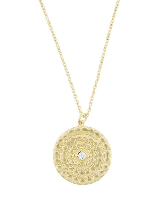 Accessorize - Metallic Embossed Coin Pendant Necklace - Lyst
