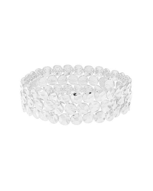 Accessorize   Metallic Textured Disc Stretch Bracelet   Lyst