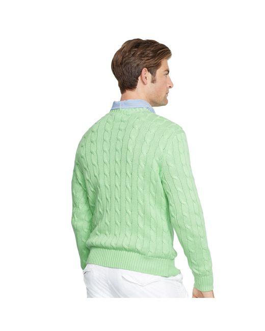 Polo Ralph Lauren   Blue Cable-knit Cotton Sweater for Men   Lyst