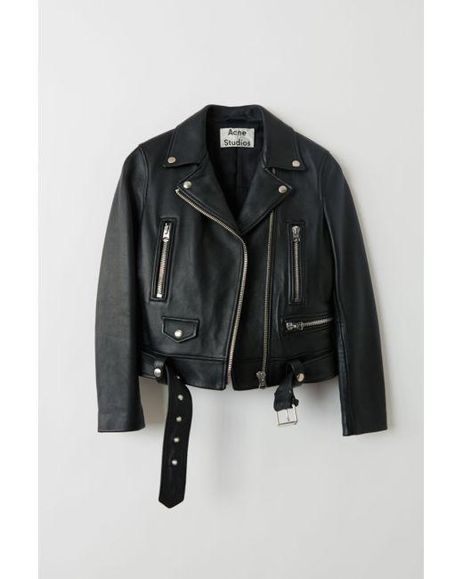 Acne Mock Black Motorcycle Jacket