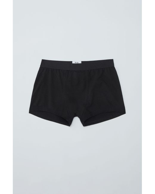 Acne - Hedda Cotton Black Boxer Short - Lyst