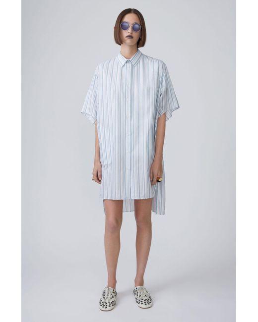 Acne | Debrah Stripe blue Stripe | Lyst