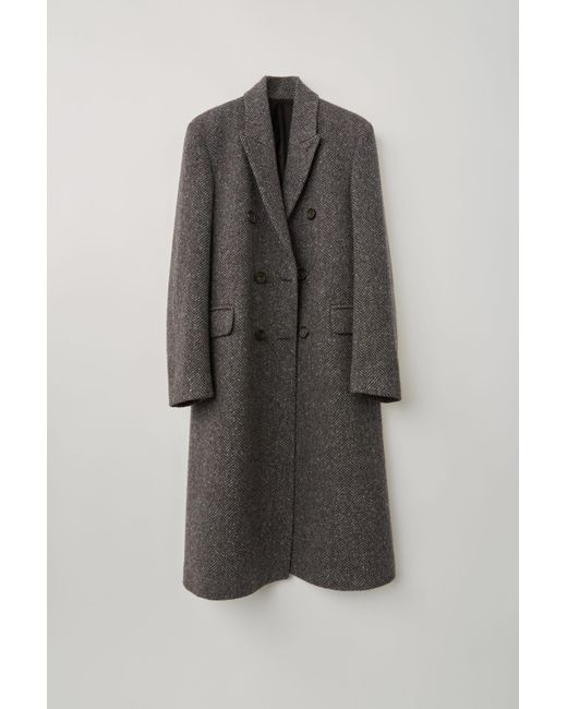 Acne Gray Fn-mn-outw000142 Grey/dark Grey Double Breasted Coat for men