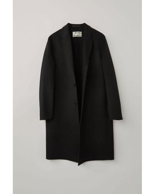 Acne Fn-mn-outw000264 Black Oversized Coat for men
