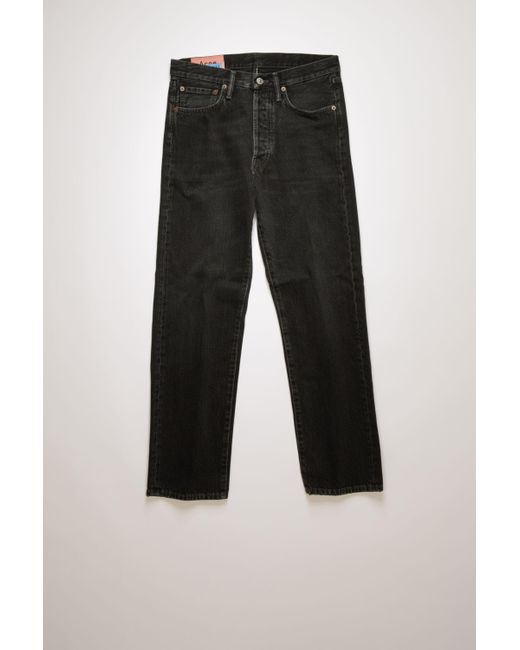 Acne 1996 Used Black Metal Used Black Classic Fit Jeans for men