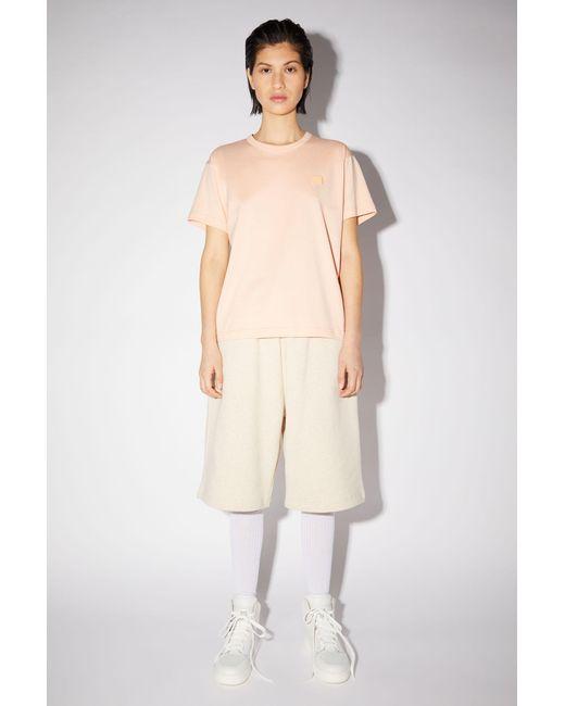 Acne Crew Neck T-shirt powder Pink for men