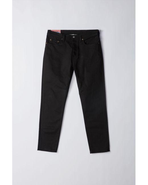 Acne River Stay Black Color Slim Tapered Fit Jeans for men