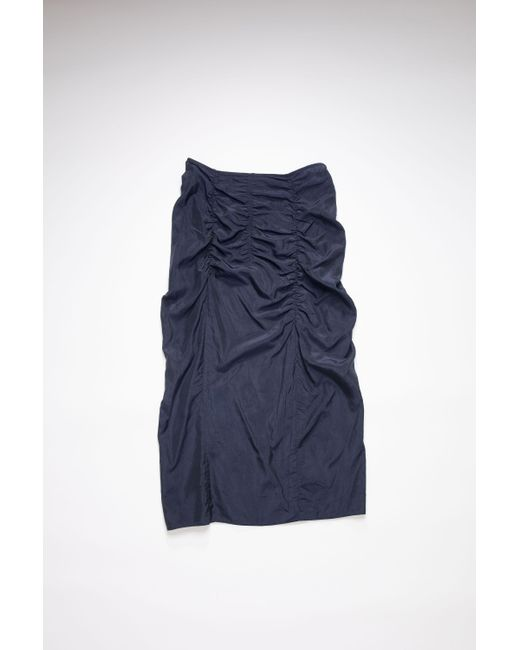 Acne Blue Fn-wn-skir000262 Black/navy Fitted Ruched Skirt