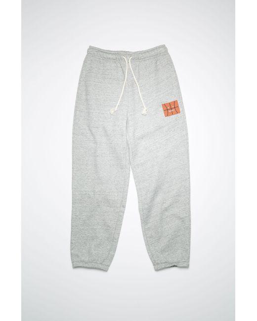 Acne Gray Fa-ux-trou000033 Marble Grey Melange Fleece Sweatpants