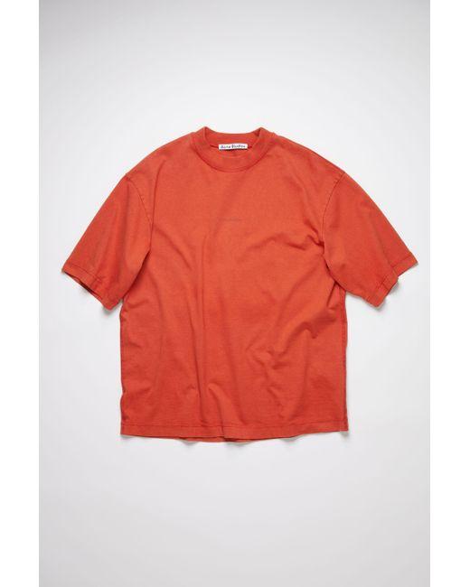 Acne Multicolor Fn-mn-tshi000245 Copper Printed T-shirt for men