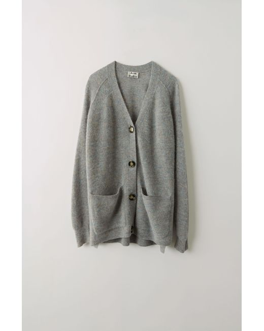 f25c2e975d0d Lyst - Acne Fn-wn-knit000071 Grey multi Loose Cardigan in Gray