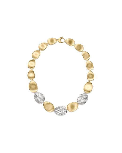 Marco Bicego | Metallic Diamond Lunaria Large Collar Necklace In 18k Gold, 17.75"