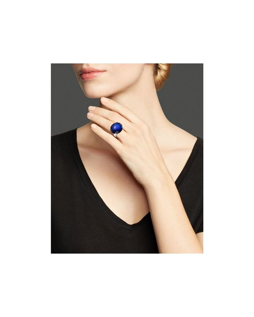 Ippolita | Blue Sterling Silver Rock Candy® Large Round Stone Ring In Midnight Doublet | Lyst