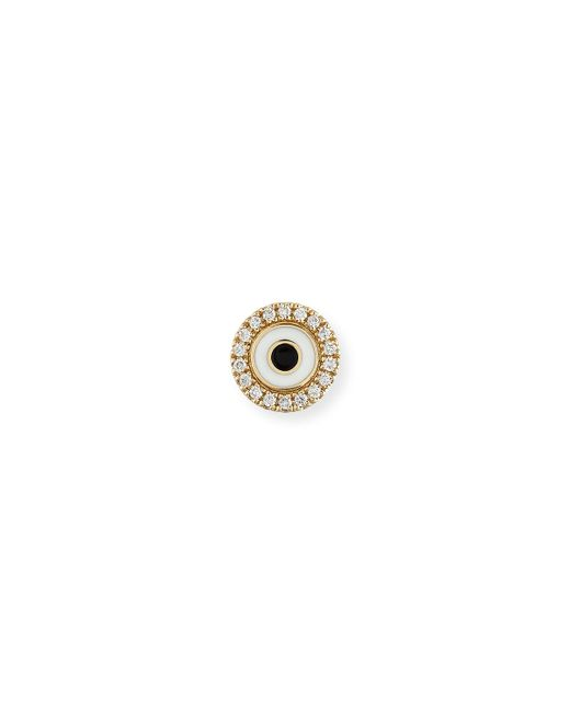 Sydney Evan | Metallic Enamel Evil Eye Diamond Disc Single Stud Earring | Lyst
