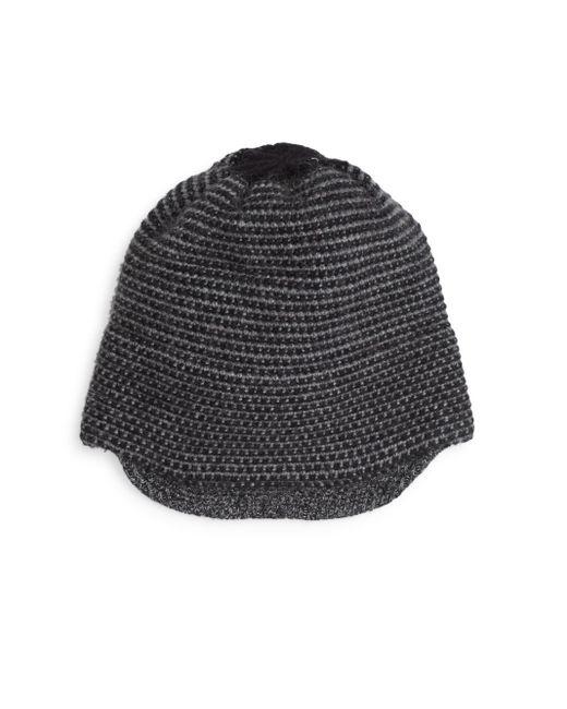 Portolano | Gray Marled-knit Cap | Lyst