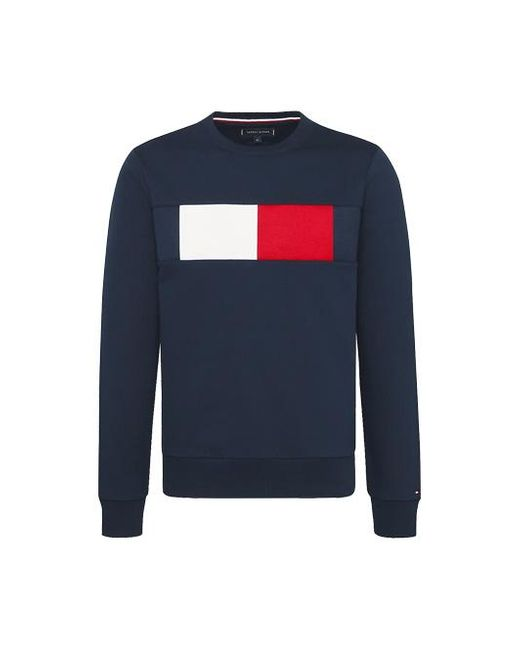 Tommy Hilfiger Sweater Met Logo in het Blue voor heren