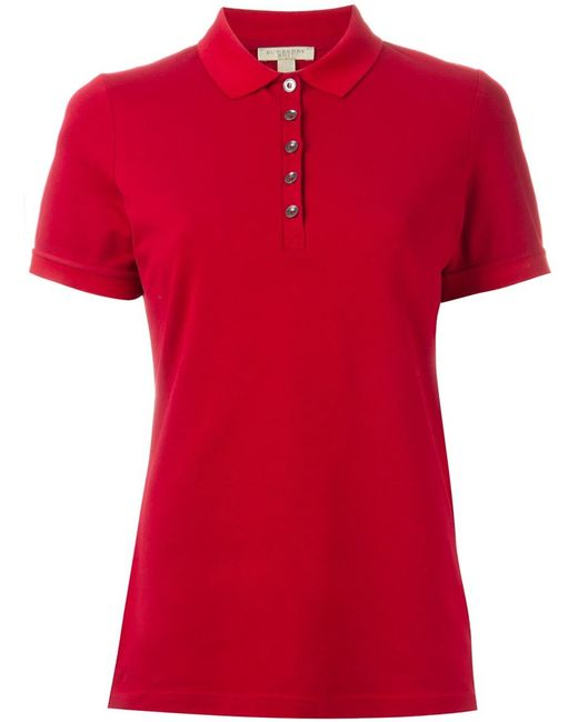 Burberry Brit Classic Polo Shirt In Red Lyst