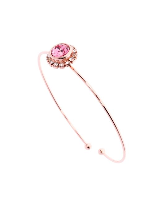 Ted Baker | Pink Sappelle Crystal Chain Cuff | Lyst