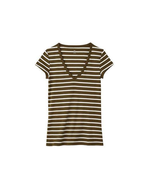 Petit Bateau   Natural Women's V-neck Tee In Sailor-striped Cotton   Lyst